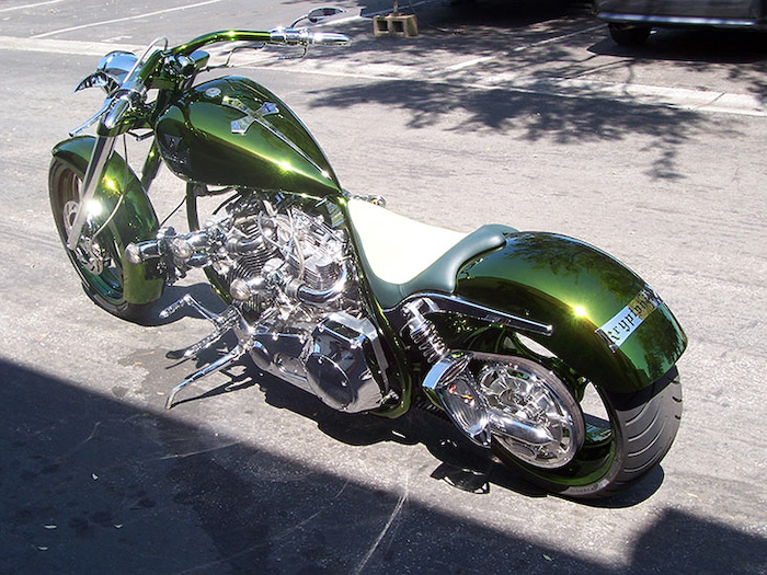 Green Motorcycle Paint